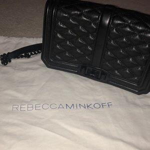 Rebecca Minkoff black slide bag